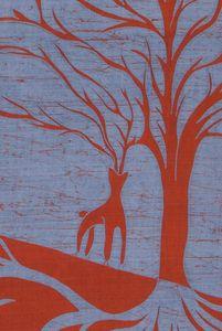 détail arbres et biches et cerfs 1