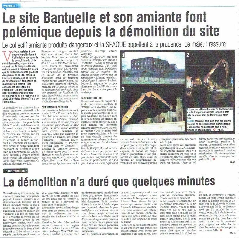 Wasmes - Vanneaux demolition - Province