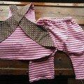 Pour Colombe (Tablier Elsie, pantalon patron maison, tissu jerse