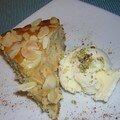 Gâteau aux pommes et glace au chèvre