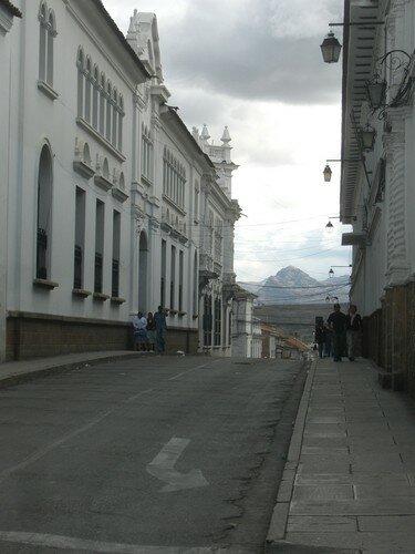 Sucre, vue sur les montagnes environnantes