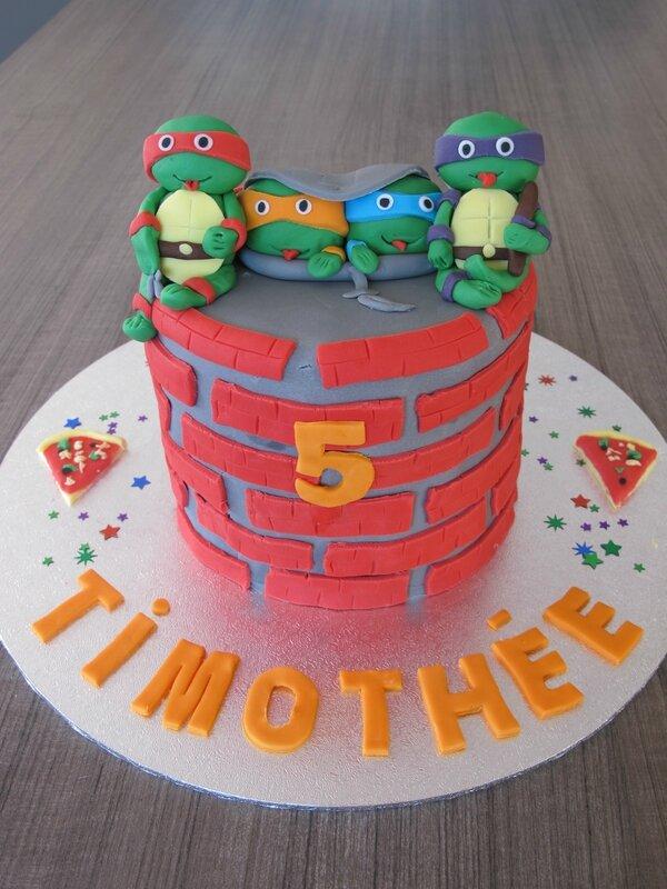 gateau tortues ninja pate a sucre (3)