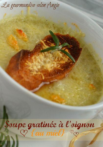 soupe oignon et miel gratinée