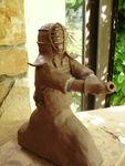 Kendo,sculpture,modelage,grès,statuette,statut,silhouette,arts martiaux,terre,argile,céramique,raku (26)