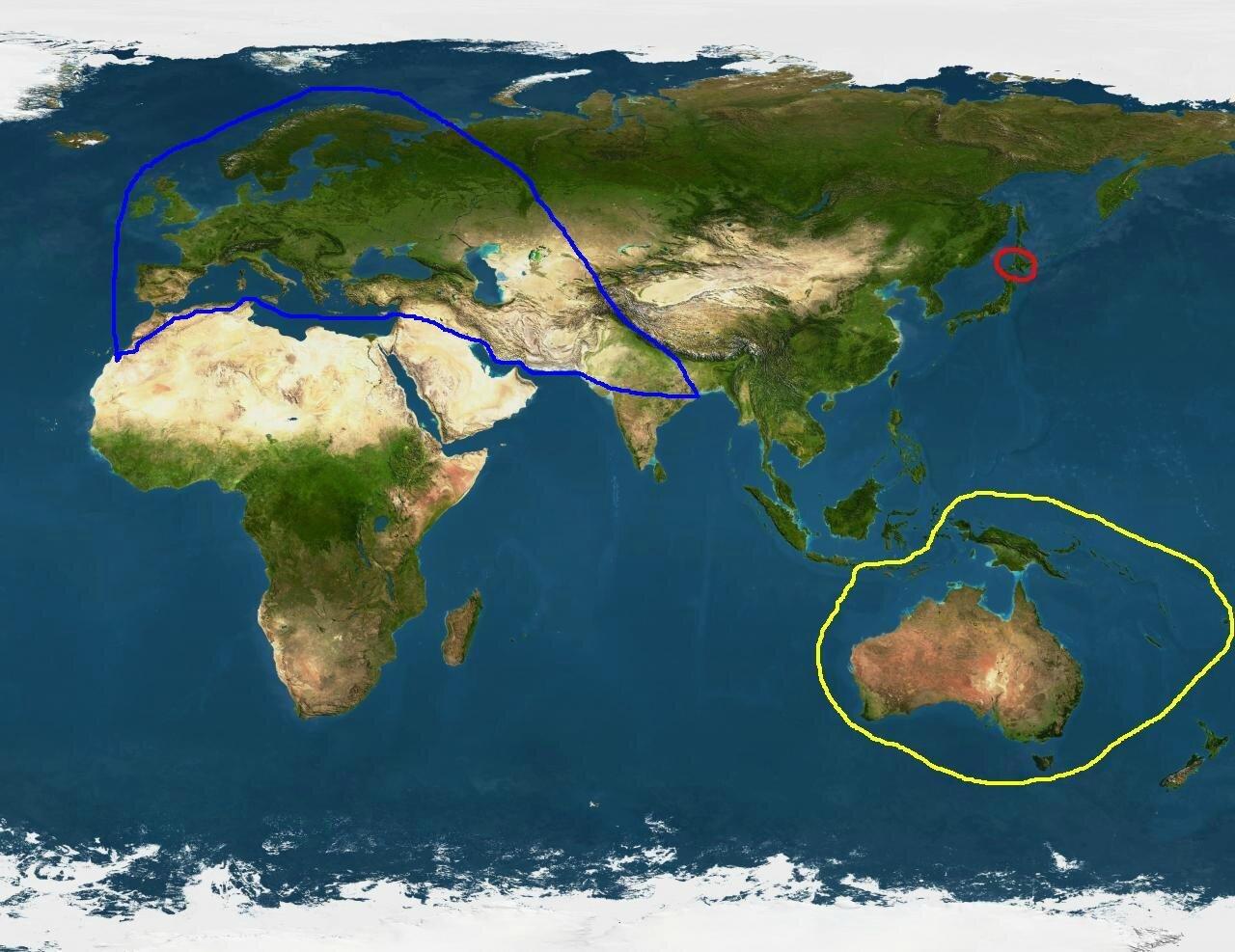 Carte mondiale du Poil