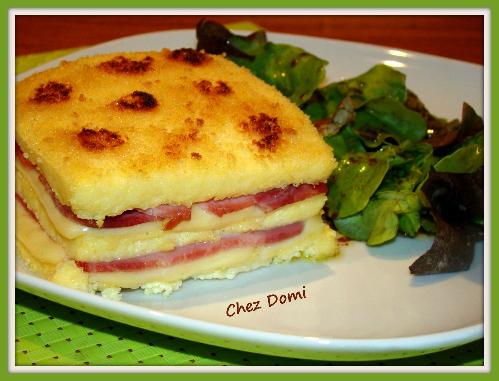 Croque-monsieur de polenta