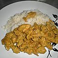 Filet de poulet au curry