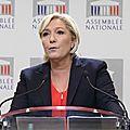 """Affaire théo : marine le pen dénonce """"une immense fake news pour salir la police française"""""""