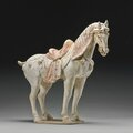 A painted pottery figure of a horse, tang dynasty