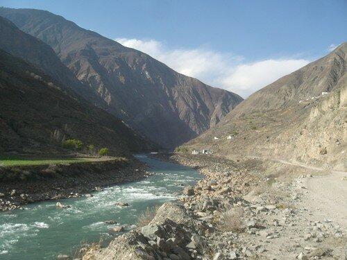 Paysages sur la route vers le Tibet