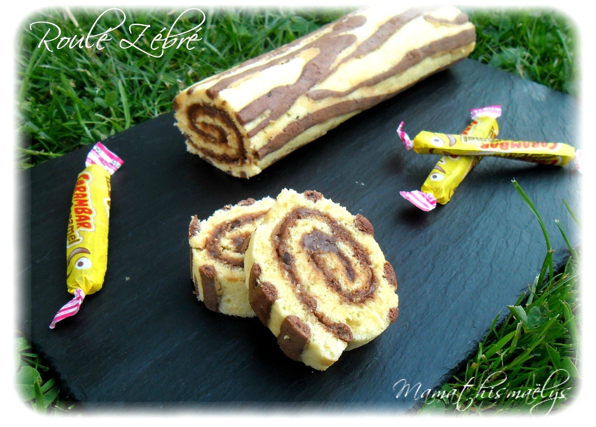 Roulé Zébré à la ganache carambar caramel