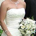 Parure de bijoux de mariage perles bleu turquoise