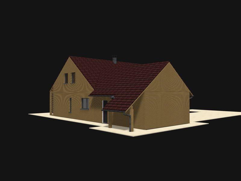 dessins d finitifs le pignon vitr etant interdit maison bois j phy papou. Black Bedroom Furniture Sets. Home Design Ideas