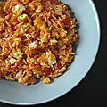 Risotto de poisson pané au curry