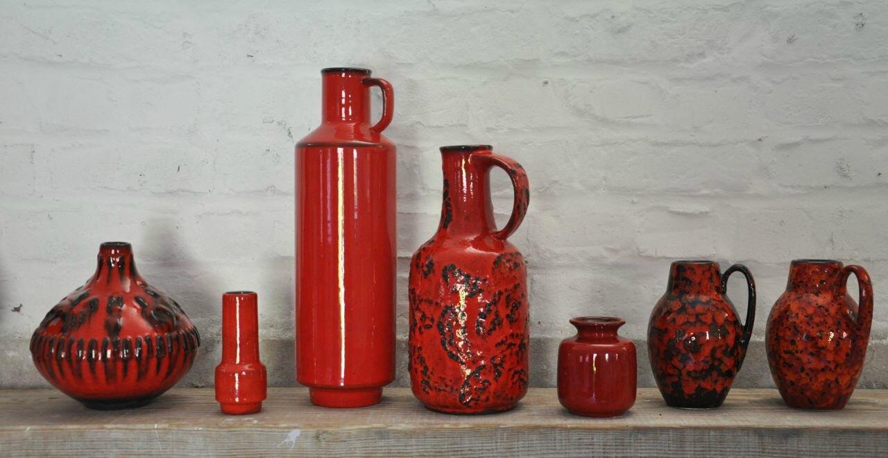 vases rouges vintage