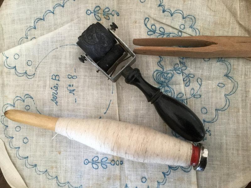 Rouleaux et tampon