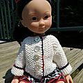 Gilet pour une poupée