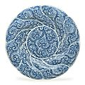 A large pair of blue and white spiral-molded dishes, kangxi period (1662-1722)