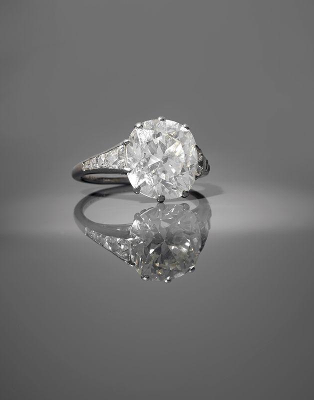 Van Cleef Amp Arpels Ann 233 Es 1930 Bague Diamant Coussin
