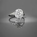 Van cleef & arpels. années 1930. bague diamant coussin solitaire