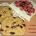 Cookies aux chocolat blanc et cranberries