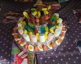 gâteau bonbons Jérôme par Yvane