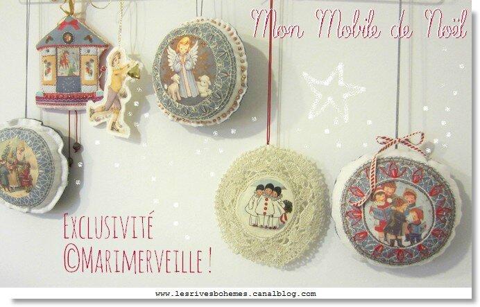 Marimerveille Mobile de Noël à réaliser
