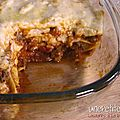 Lasagnes  la bolognaise