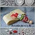 Concours de noël - kit cartes et etiquettes de noël dans leur sac en tissus...