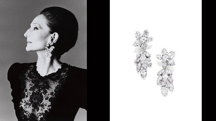 Jacqueline de Ribes & Harry Winston Pendant-Earrings