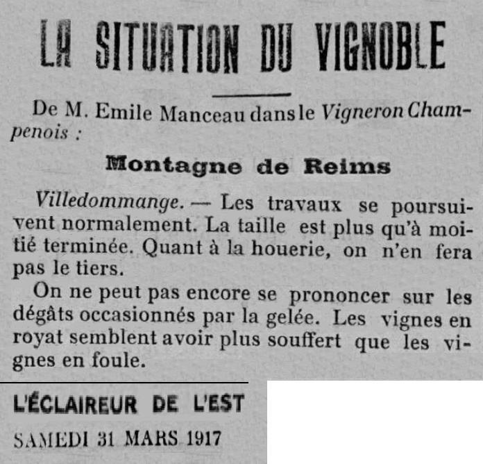 1917 VIGNES