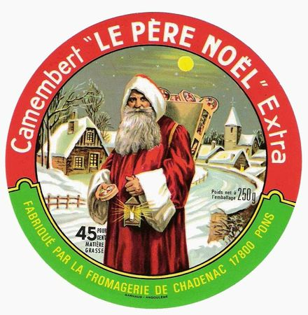 Etiquette camenbert Père-Noël