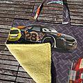 Serviette de table avec attache, thème CARS