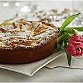 Tarte briochée aux pommes et crème pâtissière....