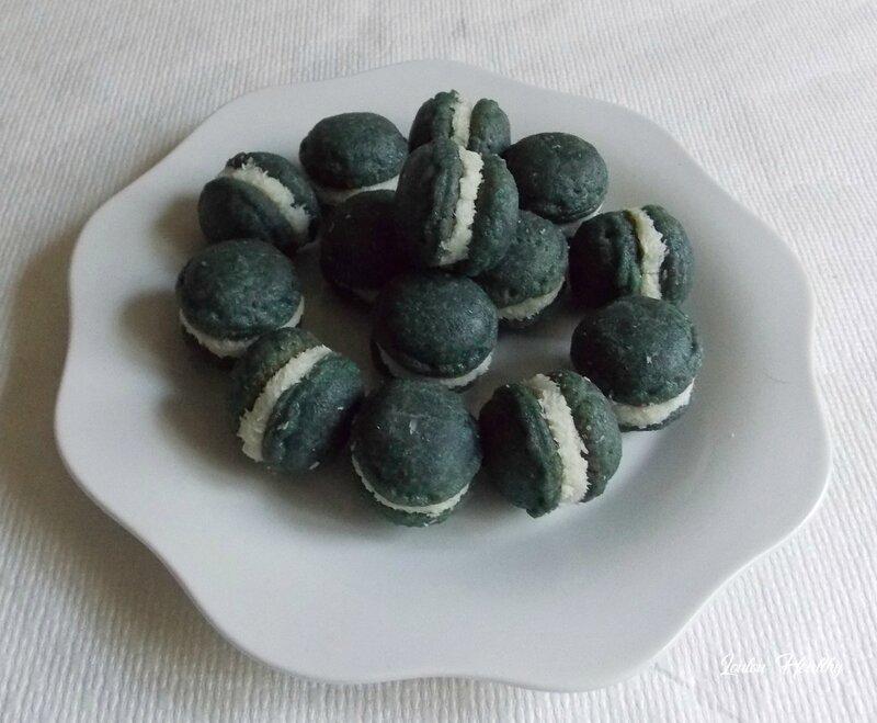 biscuits forme macaron à la noix de coco2