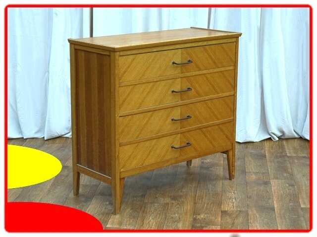 COMMODE VINTAGE ANNEES 1950 CHENE CLAIR MASSIF