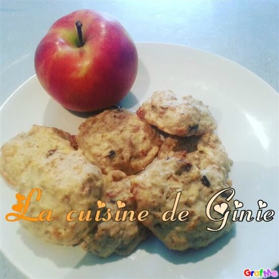 Cookie muesli pomme