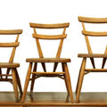 Ercol stacking chairs.