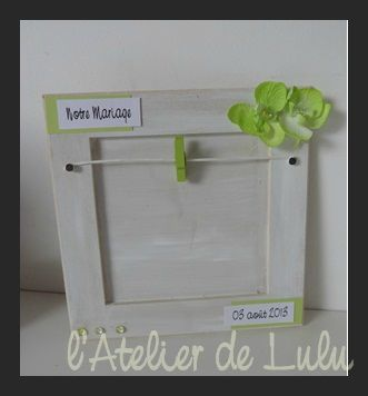 Cadre personnalise mariage 39 orchidees l 39 atelier de lulu - Cadre photo mariage personnalise ...