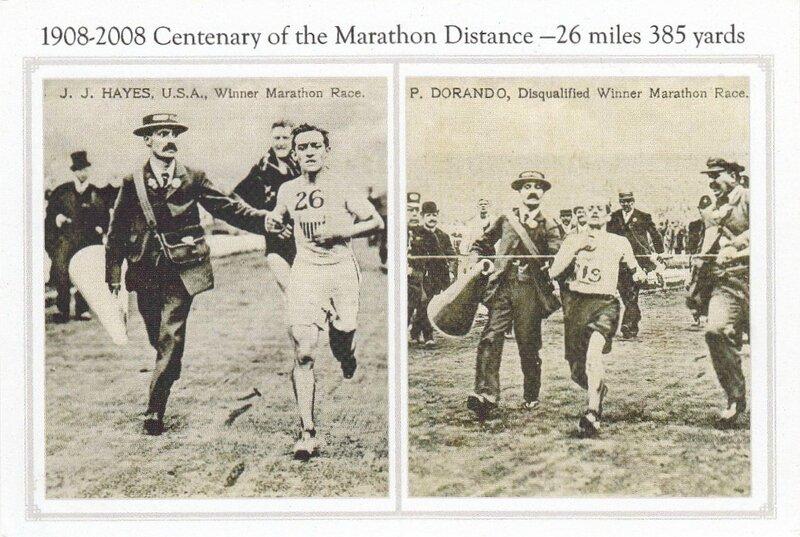 CPM Arrivée marathon JO 1908