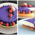 Divine tarte vanille et fruits rouges