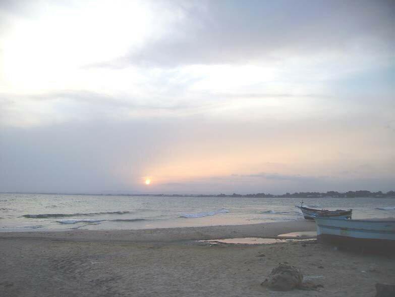 Le coucher de soleil du 14 septembre, vers 19h20.