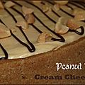 Peanut butter cream cheese tart