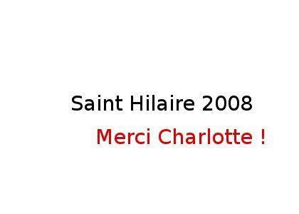 Saint hilaire 2008 N