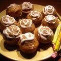 Mini muffins aux carambars et coeur chocolat