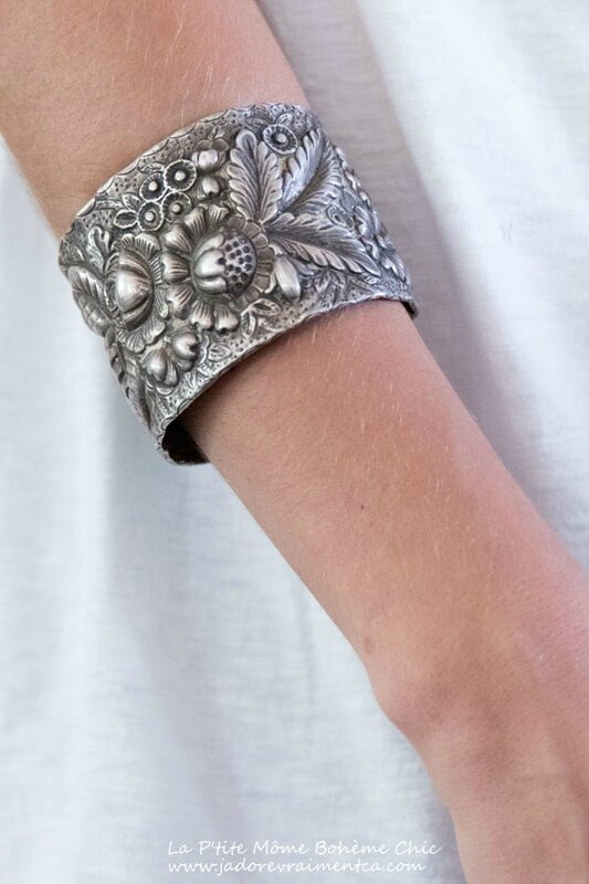 Specialty Jewelry 012 – Floral Cuff-Silver Floral Cuff