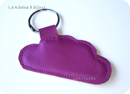 porte clef nuage violet