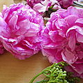 Cueillies tout près de chez moi, des roses qui n'appartiennent à personne...