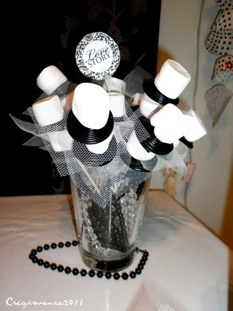 bridal shower en noir et blanc black and white bridal shower prunille fait son show. Black Bedroom Furniture Sets. Home Design Ideas