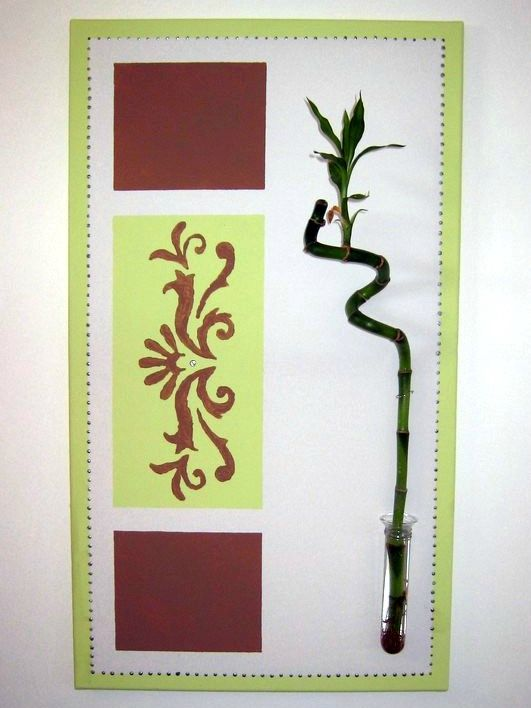 Tableau Vert Anis Et Bambou Photo De D Coration Maison Maman S 39 Clate